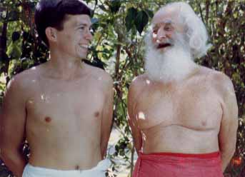 The author with German Swami Gauribala, ca. 1980